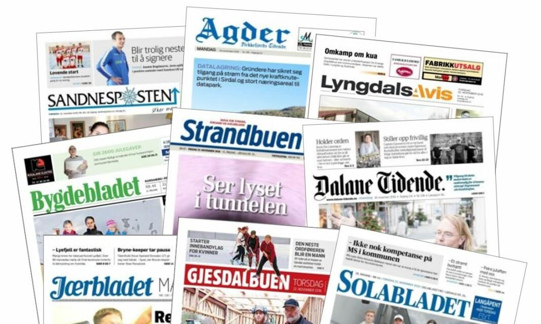 Amedia overtar ni lokalaviser i Rogaland og Vest-Agder