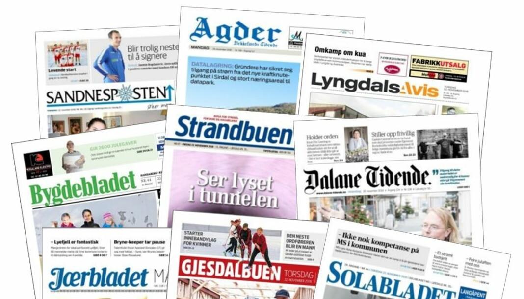 I dag eies disse avisene av Nordsjø Media. Tidlig i 2019 kan de ha blitt Amedia-aviser.