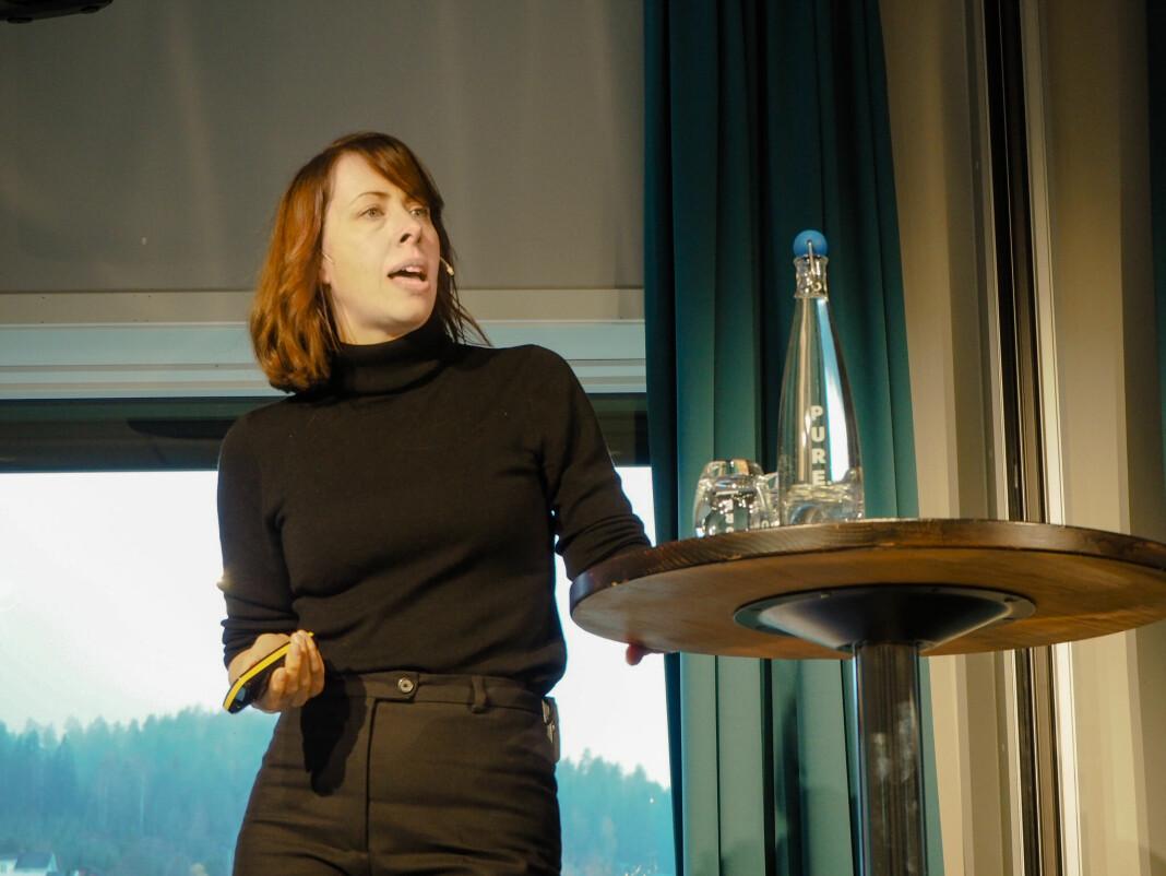 Morgenbladets ansvarlig redaktør, Anna B. Jenssen, bekrefter at hun og styreleder har fått brevet fra redaksjonsklubben. Foto: Roger Aarli-Grøndalen