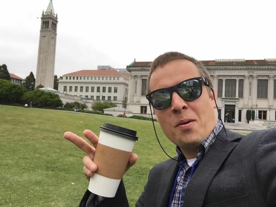 Selfie tatt på innovasjonskurs for mediefolk på Berkeley i mai år.