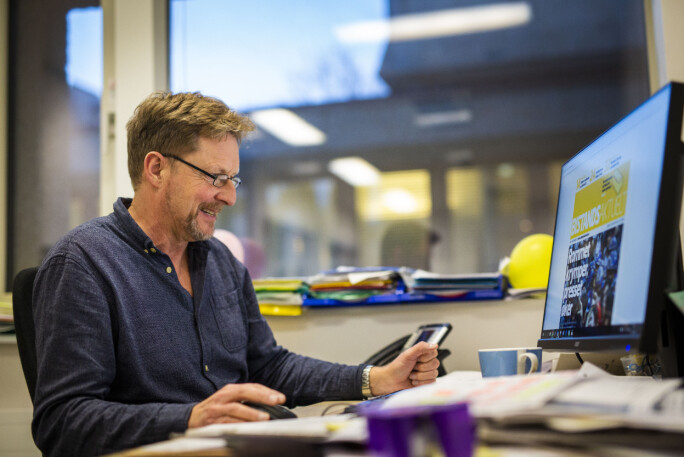 Gunnar Zachrisen, ansvarlig redaktør i Bistandsaktuelt. Foto: Kristine Lindebø