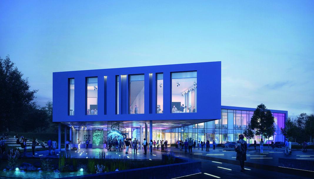 Bak forslaget til nytt mediehus på Høgskulen i Volda, står totalentreprenør PEAB/K Nordang AS.