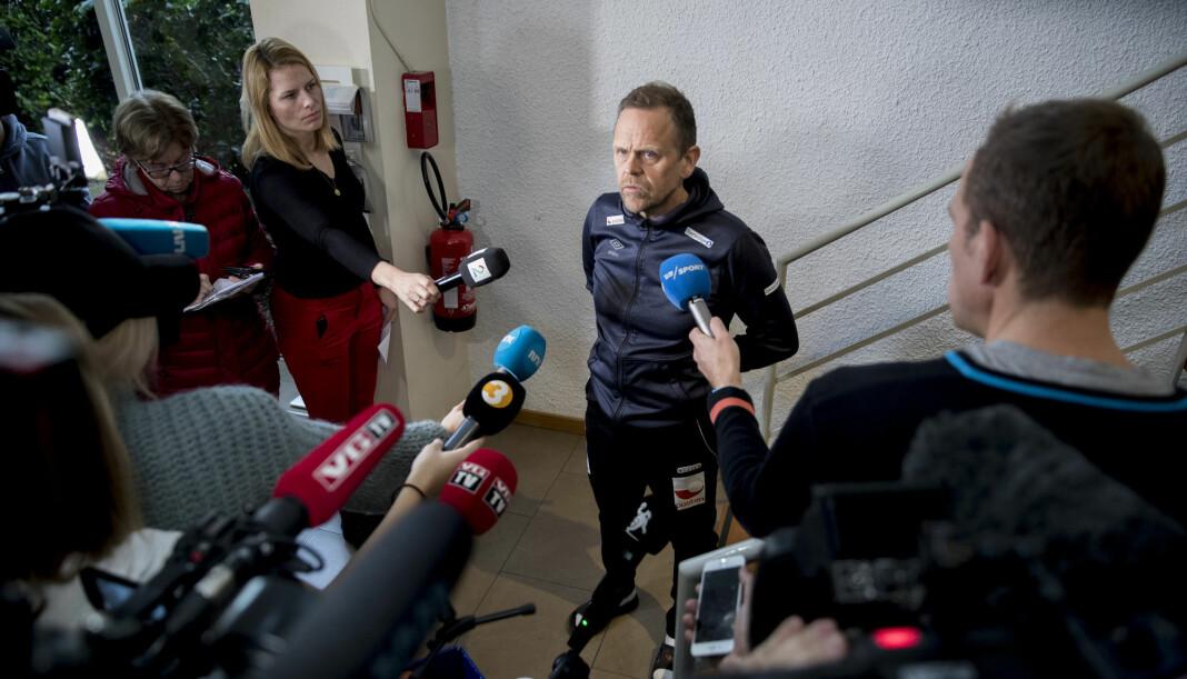 Landslagssjef Thorir Hergeirsson har valgt å skjerme sine spillere fra mediene noe mer i dagene som kommer. Foto: Vidar Ruud / NTB scanpix