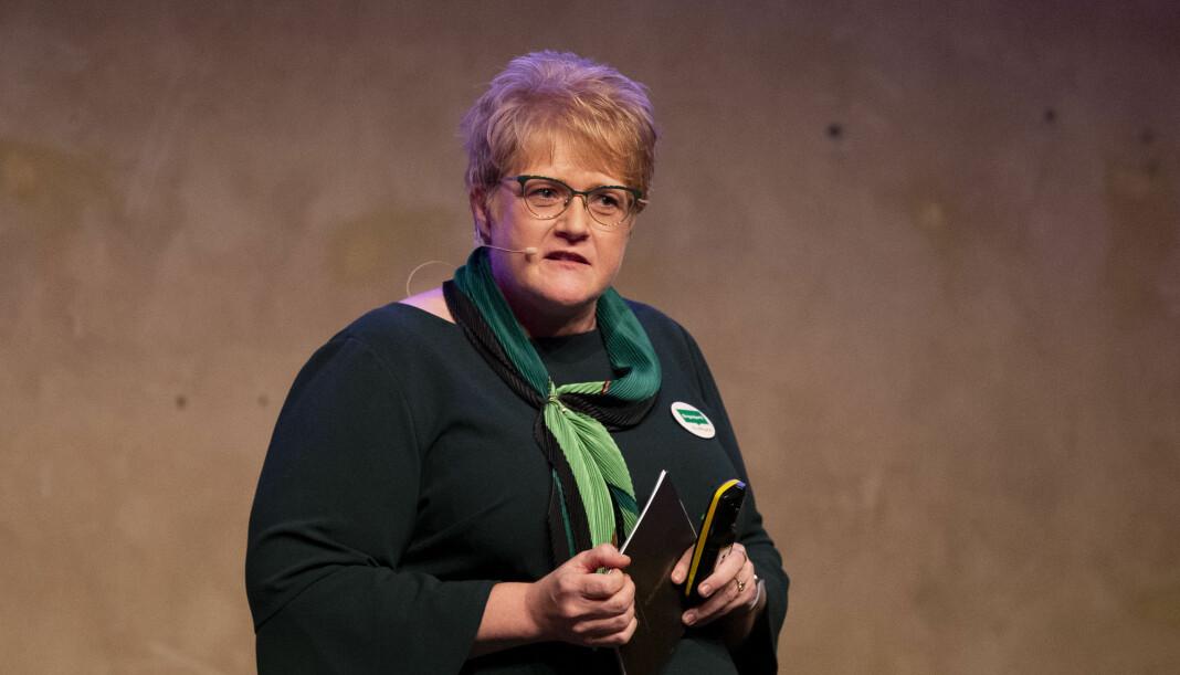 Kulturminister Trine Skei Grande gir ekstrabevillinger til Nynorsk pressekontor. Foto: Fredrik Hagen / NTB scanpix