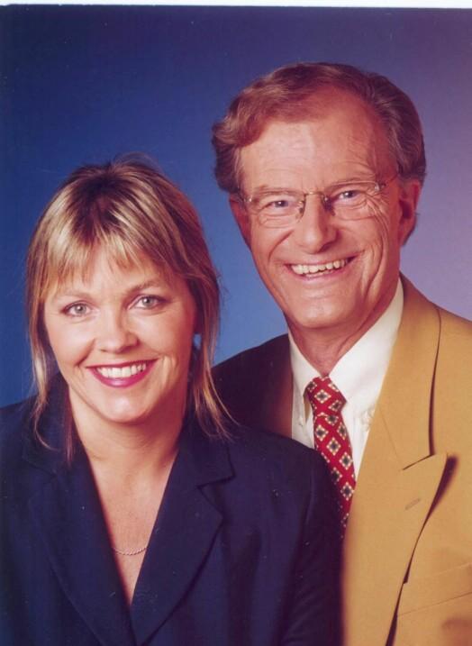 Programledere Ingvild Bryn og Einar Lunde, år 2000. Foto: Anne Liv Ekroll/NRK