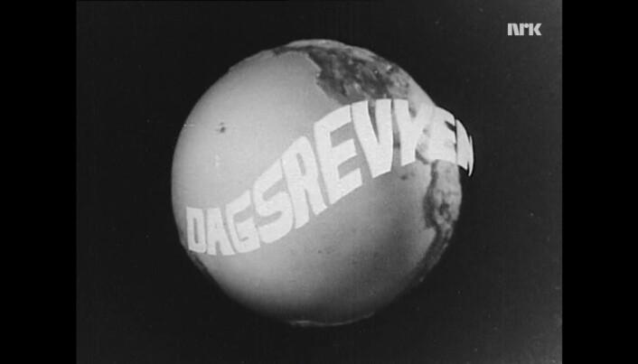 Dagsrevyen-introen i 1962. Foto: Skjermdump, NRK