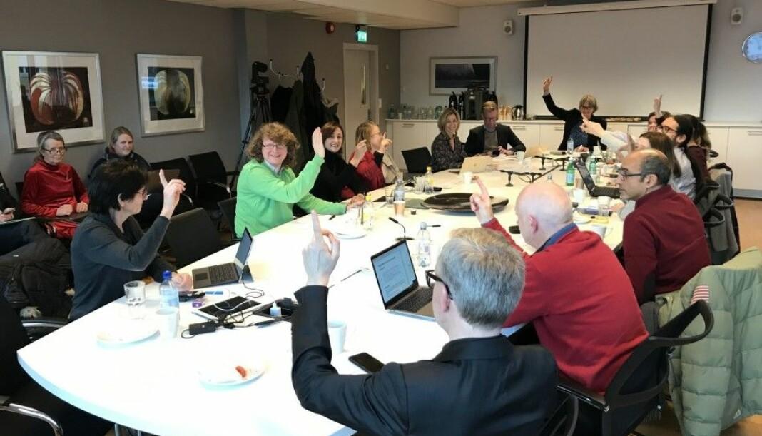 Her slutter i styret på Oslomet seg enstemmig til de nye samarbeidsavtalen rundt Khrono. Foto: Eva Tønnessen/Khrono