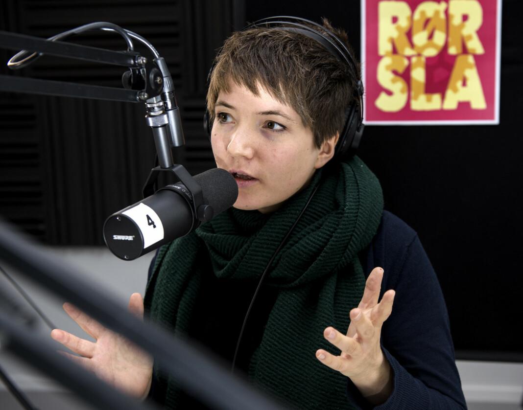Podkast-journalist Ida Gullvik drømmer om overskriften: – «Slapp av. Alt kommer til å ordne seg». Foto: Sissel M. Rasmussen/LO Media