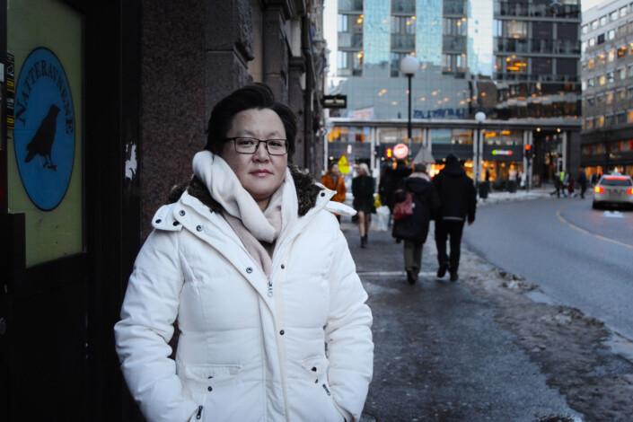 Lena-Maria Haugerud driver Landsforeningen for forebygging av selvskading og selvmord. Foto: Guro Flaarønning