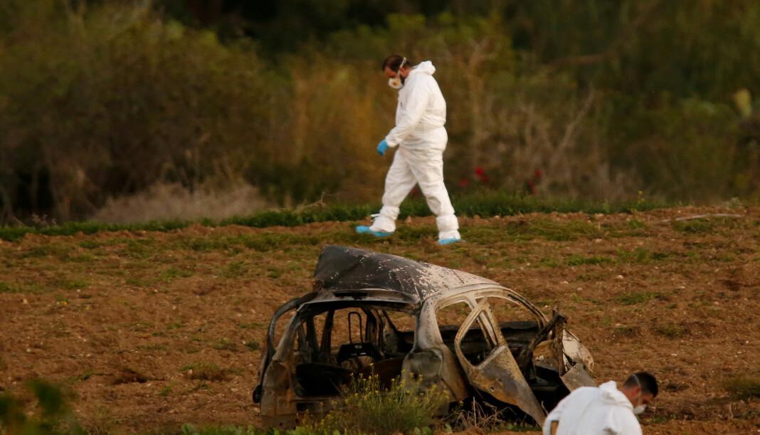 Den maltesiske gravejournalisten Daphne Caruana Galizia ble drept av en bilbombe 16. oktober 2017. Saken er fortsatt under etterforskning. Arkivfoto: Darrin Zammit Lupi / Reuters / NTB scanpix