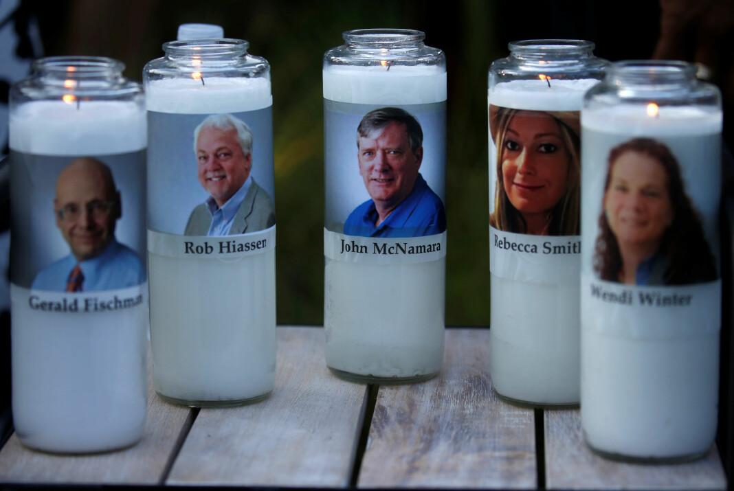 Seks medarbeidere i avisen Capital Gazette i USA ble drept, fire av dem journalister. Foto: Reuters / NTB scanpix