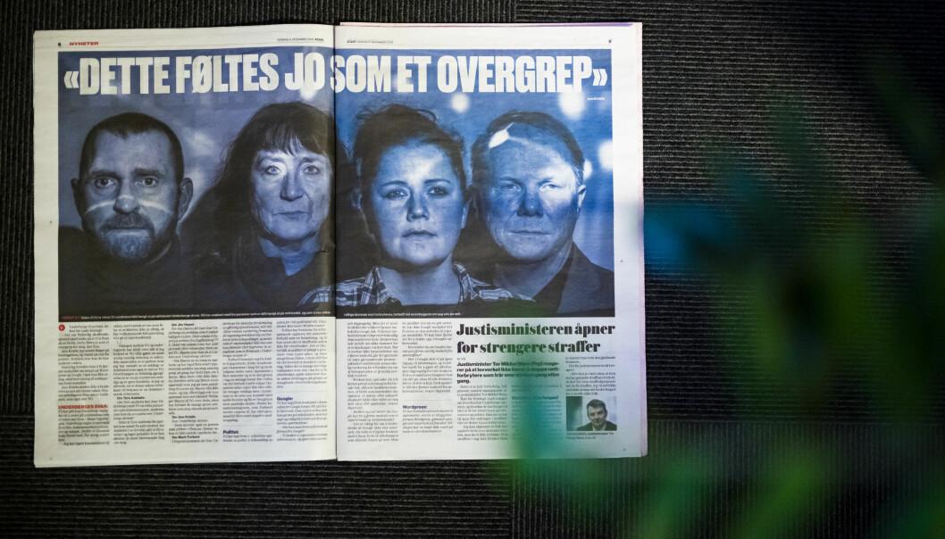 Disse fire stilte opp i VGs sak om netthets. Alle er omtalt på nettstedet til mannen som VG omtaler som netthetser. Foto: Kristine Lindebø