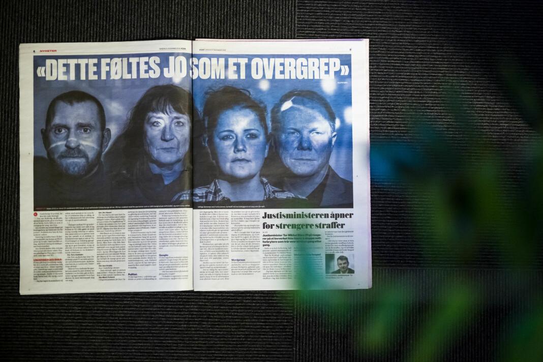 Disse fire stilte opp i VGs sak om netthets. Alle er omtalt flere ganger på nettstedet til mannen som VG beskriver som netthetser. Foto: Kristine Lindebø