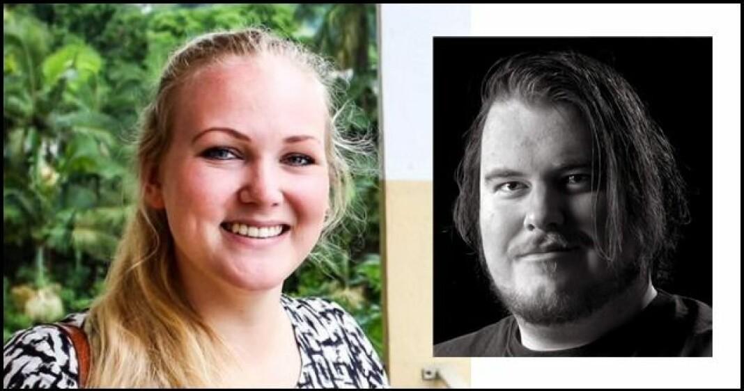 Tiril Vik Nordeide og Torgrim Gotland Bakke får fast jobb i Fredriksstad Blad. Foto: Innsendt