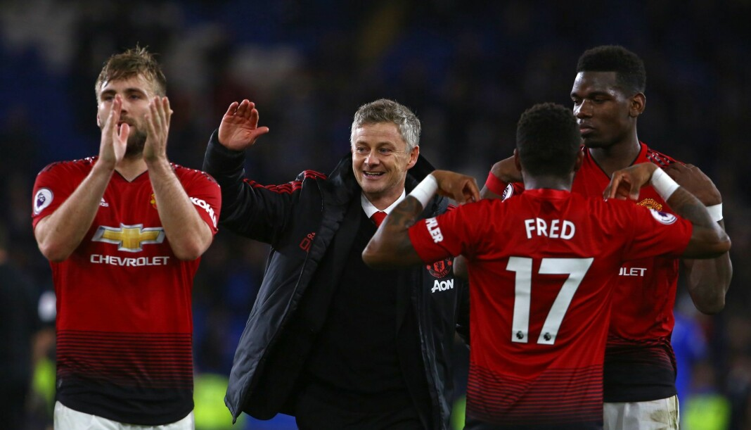 Ole Gunnar Solskjær ledet Manchester United til en solid seier i sin første kamp som managervikar. Foto: AFP / NTB scanpix