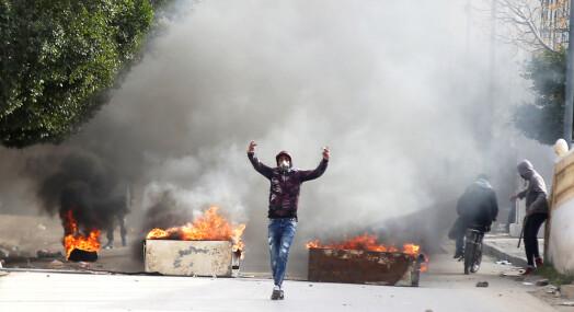 Opptøyer i Tunisia etter at journalist tente på seg selv