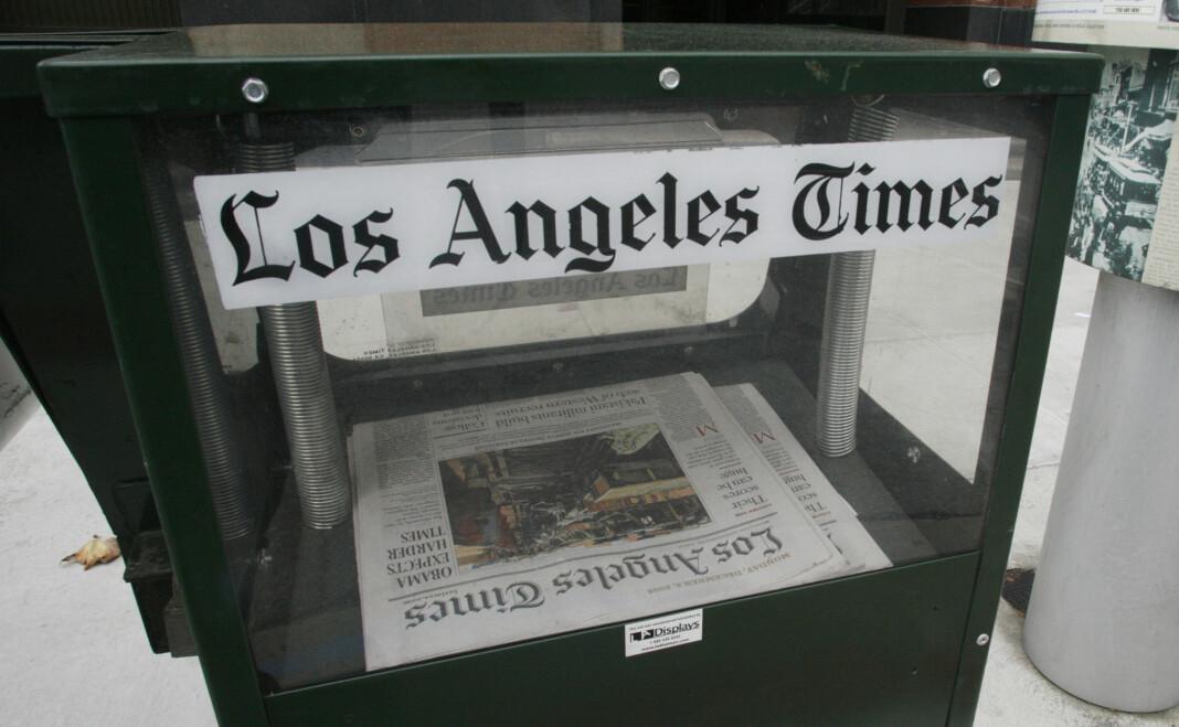 Skadeprogrammet rammet et trykkeri i Los Angeles, noe som rammet produksjon og levering av blant annet Los Angeles Times og San Diego Union-Tribune. Foto: Reuters / NTB scanpix