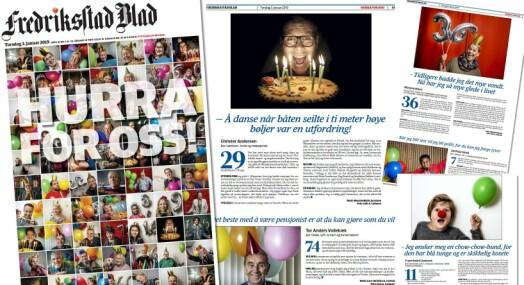 Feirer 130 år som avis med å intervjue 73 bursdagsbarn