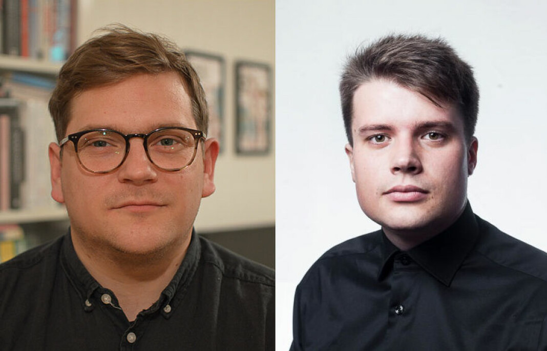 Nils Martin Silvola (t.v) og Eskil Wie Furunes vil begge være på plass i Journalisten i løpet av årets første måneder. Foto: Privat / Adrian Nielsen/Universitas