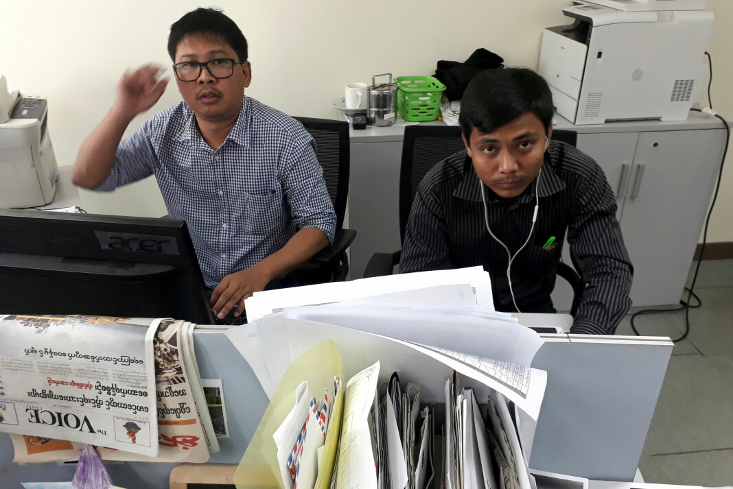 32 år gamle Wa Lone og 28 år gamle Kyaw Soe Oo er begge dømt til å sone sju år i fengsel. Foto: Antoni Slodkowski / Reuters / NTB scanpix