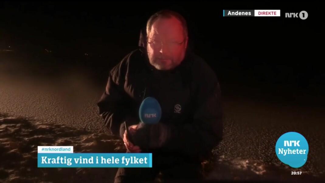 Nils Mehren har vært ute en vinternatt før, etter å ha bodd i Nord-Norge siden 1979. Foto: Skjermdump / NRK
