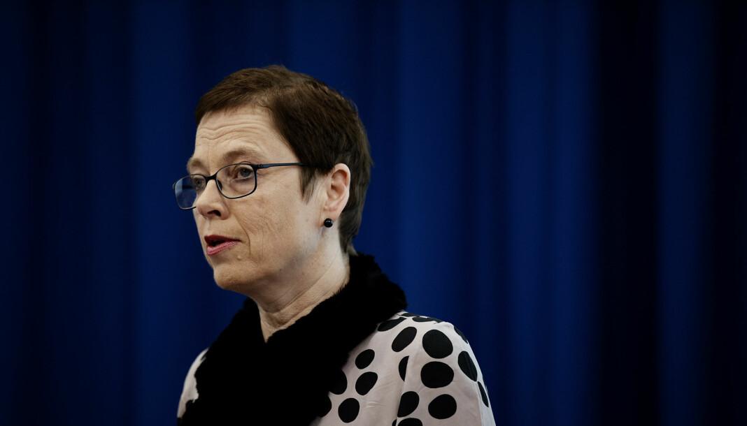 Medietilsynet-direktør Mari Velsand er glad for at den nye mediemeldingen nå kommer. Foto: Andrea Gjestvang