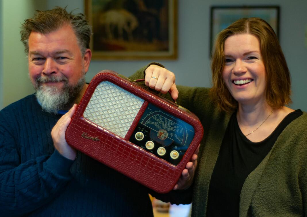 Lars Erik Ertzgaard Ringen sammen med sin Kurér-kollega Kristin Norvoll Mork.