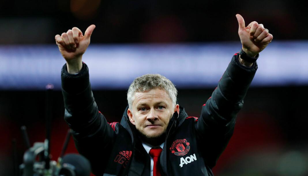 Ole Gunnar Solskjærs suksessfulle start som Manchester United-manager gir TV 2 gode seertall. Foto: Reuters / NTB scanpix