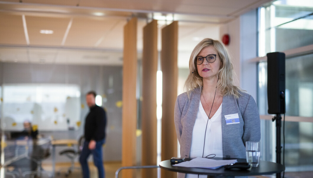 Karianne Solbrække i TV 2 snakket om hvordan de har jobbet etter fellelsene i PFU i fjor. Foto: Kristine Lindebø