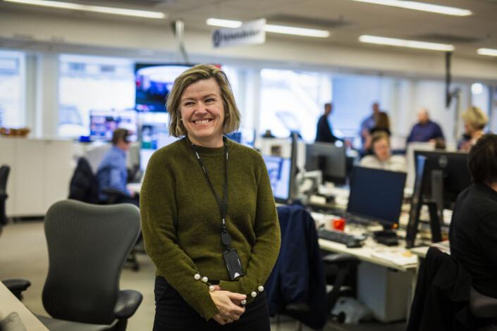 Nyhetsredaktør Tone Tveøy Strøm-Gundersen i Aftenposten, mener det er viktig med en sterk visuell avdeling. Foto: Kristine Lindebø