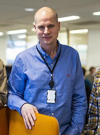 Leder i visuell avdeling i Aftenposten, Eirik Wallem Fossan. Foto: Kristine Lindebø