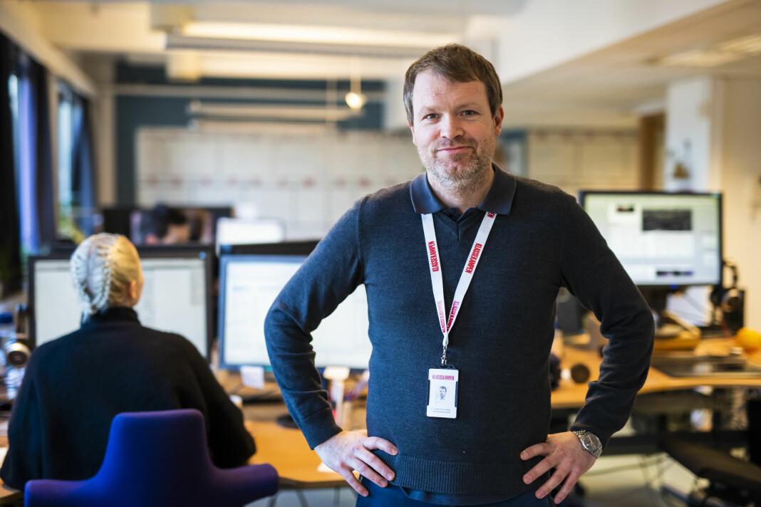 Administrerende direktør Christian Samuelsen i Klassekampen ser ingen grunn til å samle mediestøtten i én ordning, slik regjeringen vil. Foto: Kristine Lindebø