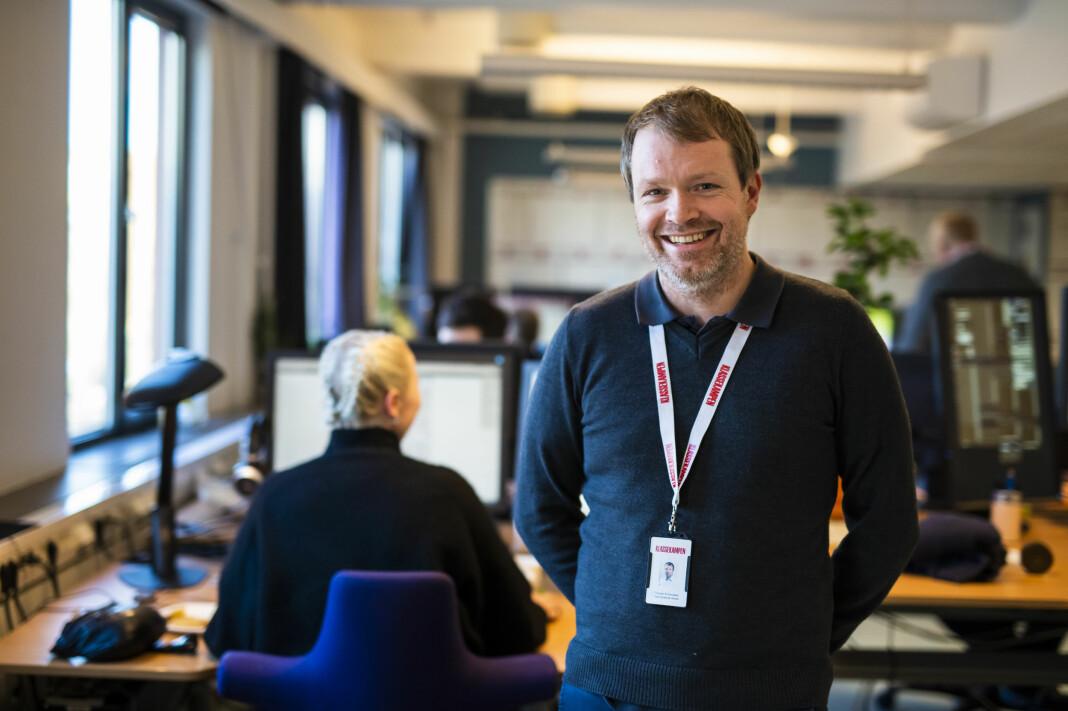 Administrerende direktør Christian Samuelsen i Klassekampen er fornøyd med 2018-tallene. Arkivfoto: Kristine Lindebø