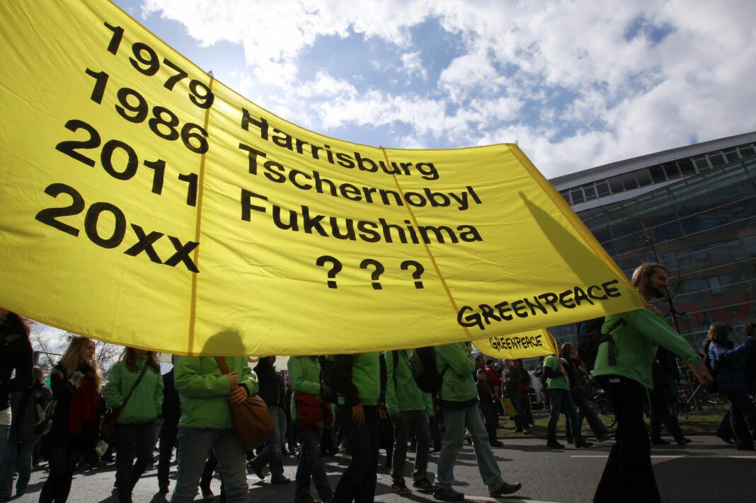 Greenpeace-aktivister demonstrerer mot atomkraft i Tyskland. Arkivfoto: Reuters / NTB scanpix