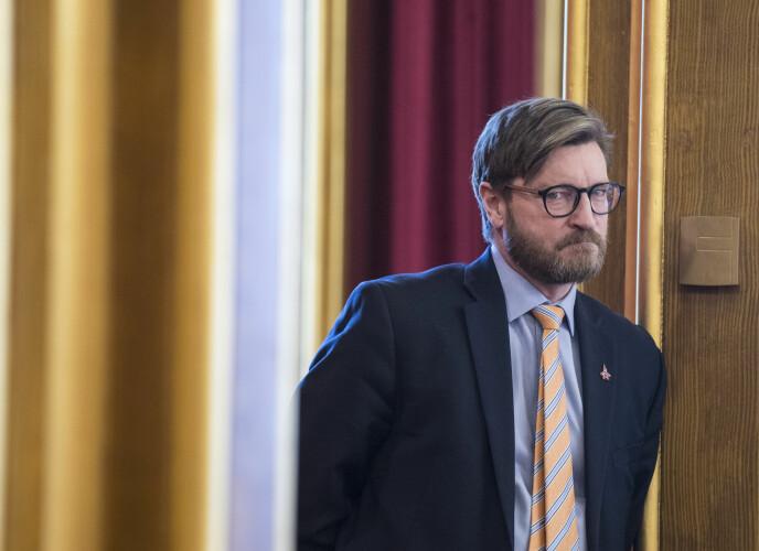 Stortingsrepresentant Christian Tybring-Gjedde mener lettlestavisen Klar Tale bedrifter satire. Foto: Vidar Ruud / NTB scanpix
