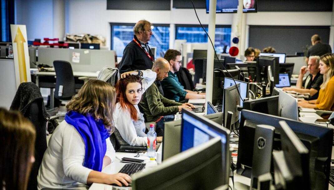 Dagbladet-redaksjonen er nå bemannet 24 timer i døgnet. Foto: Christian Roth Christensen/Dagbladet
