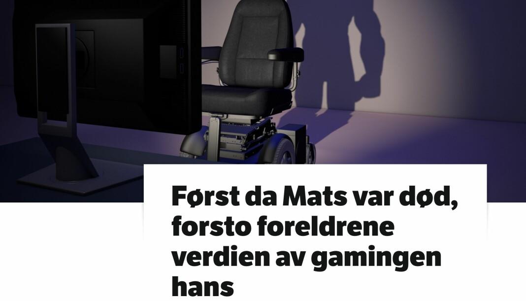 I tillegg til at historien om Mats Steen har truffet en nerve og sprer seg på nett, forteller faren Robert Steen til NRK at tusenvis har kontaktet ham. Skjermdump fra NRK