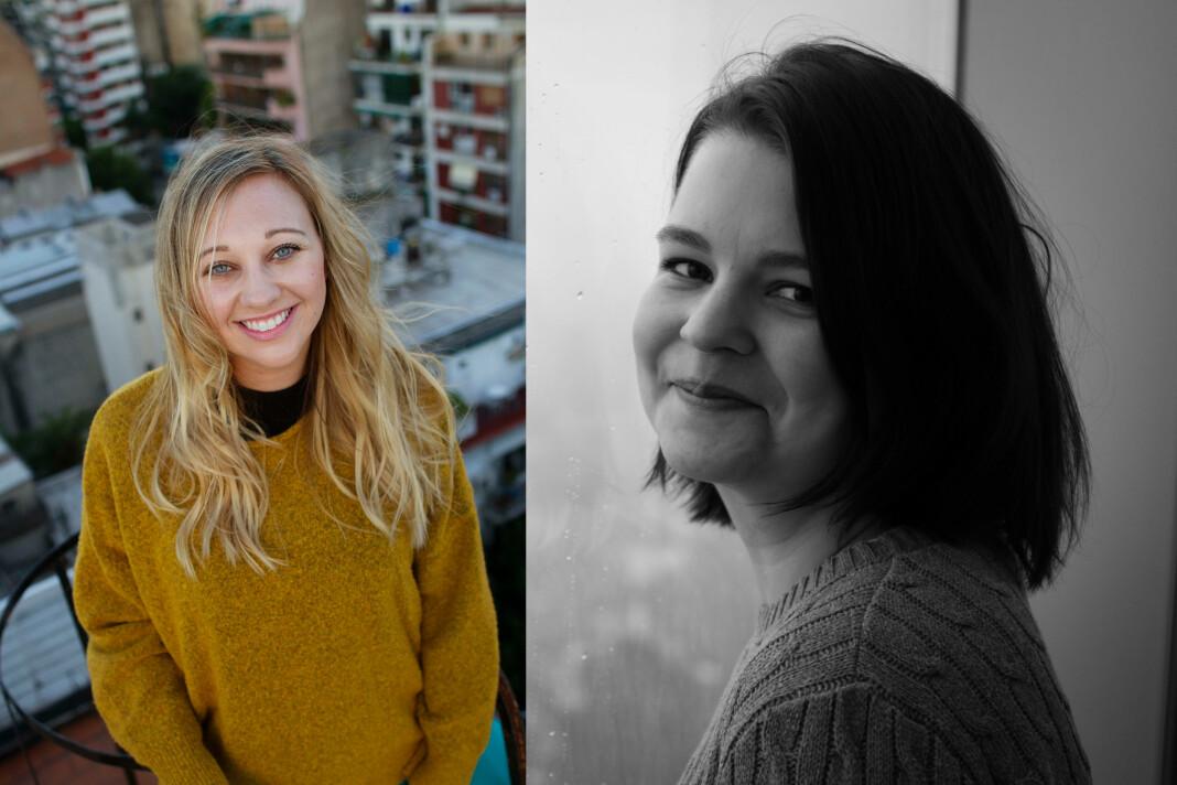 Lone Lohne og Hanna Haug Røset får fast jobb i VG. Foto: Innsendt