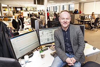 MORGENRUTINEN: Bjørn Carlsen starter dagen med et «yes» klokka 6.00, når han ser at tallene til Dagbladet TV er gode