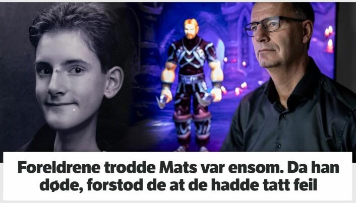 Robert Steen stilte opp for å fortelle sønnens historie til journalist Vicky Schaubert. Foto: Faksimile NRK