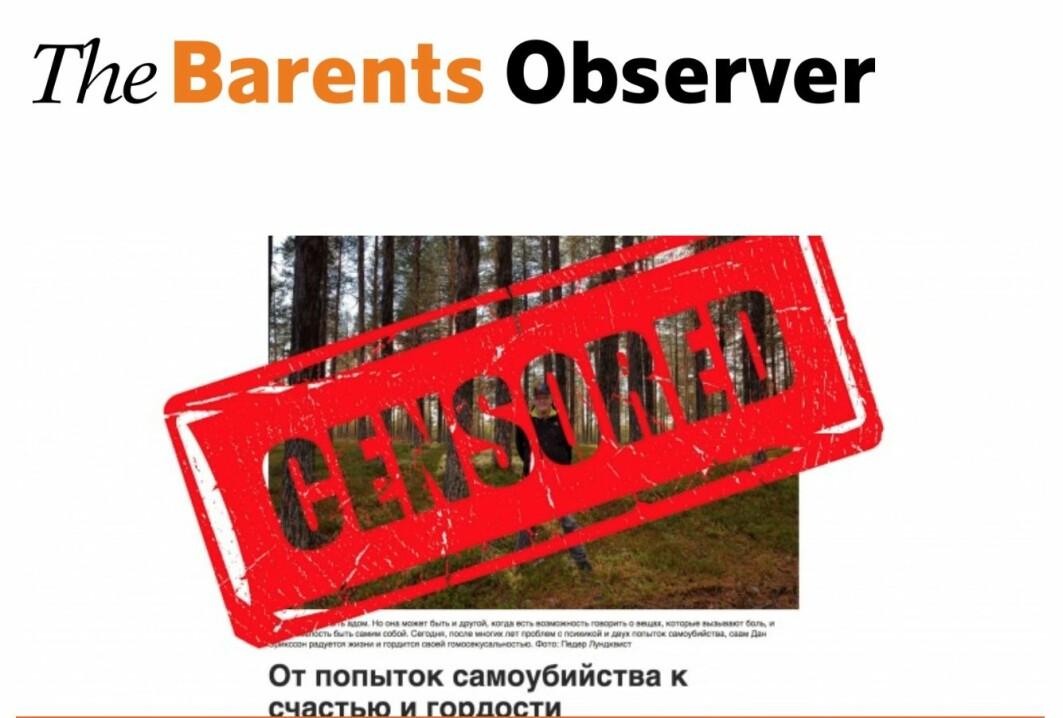 Skjermdump fra forsiden til The Barents Observer onsdag 30. januar 2019.