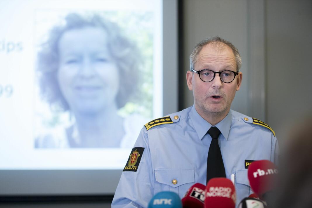 Etterforskningsleder Tommy Brøske forteller at politiet mente at enkelte medier var vel aktive i området rundt boligen til Anne-Elisabeth Hagen i ukene før forsvinningssaken ble offentlig kjent. Foto: Vidar Ruud / NTB scanpix