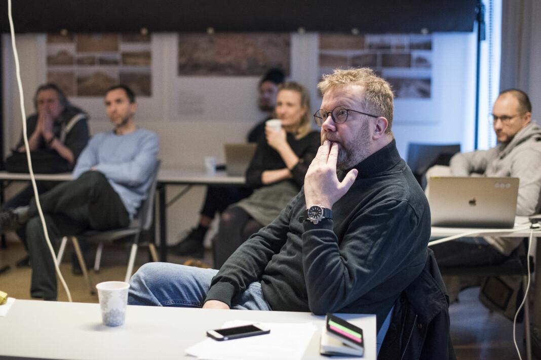 Lars Dareberg under juryeringen av Årets bilde. Foto: Martin Slottemo Lyngstad / Pressefotografenes klubb (PK)