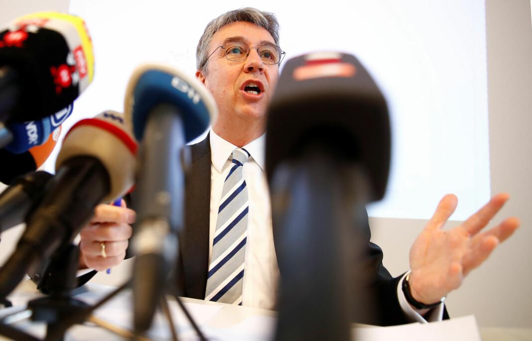 Andreas Mundt, sjefen for det tyske konkurransetilsynet, vil begrense hvilke data Facebook kan samle inn. Foto: Reuters / NTB scanpix