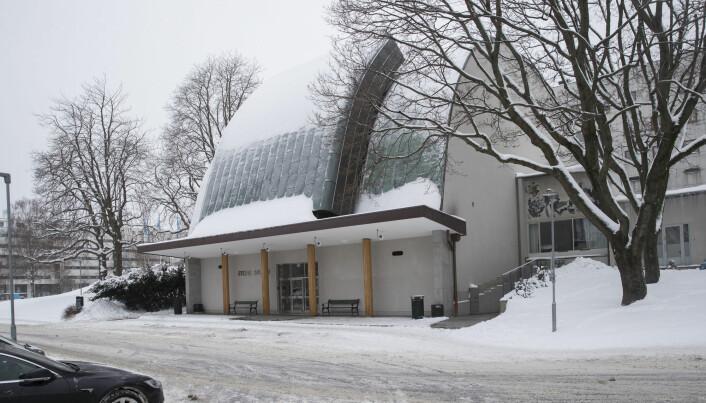 NRKs forslag til planprogram for Marienlyst ble fremlagt torsdag. Store studio er blant de bygningene som er fredet. Foto: Terje Bendiksby / NTB scanpix