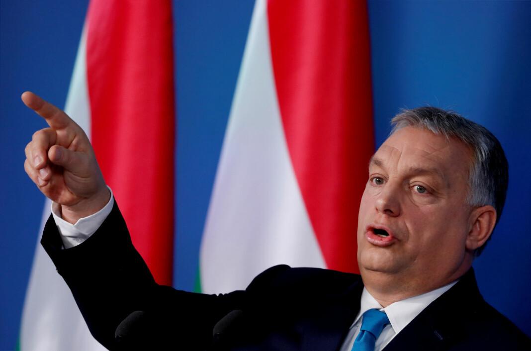 Ungarns statsminister Viktor Orbán får flengede kritikk i en fersk rapport fra Freedom House. Foto: Bernadett Szabo / Reuters / NTB scanpix