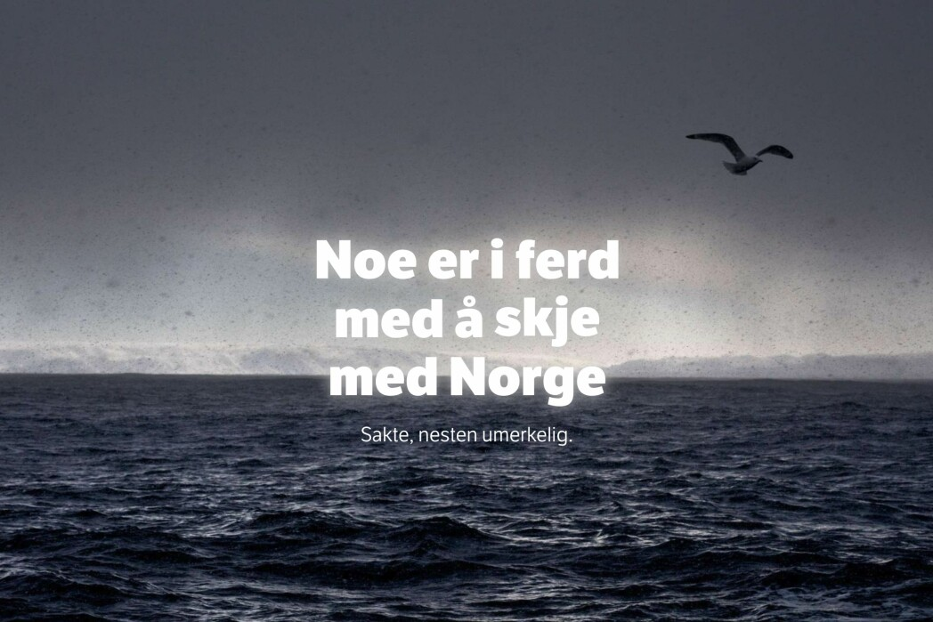 Slik åpnet NRK-saken Jakten på klimaendringene. Foto: Skjermdump, NRK.no