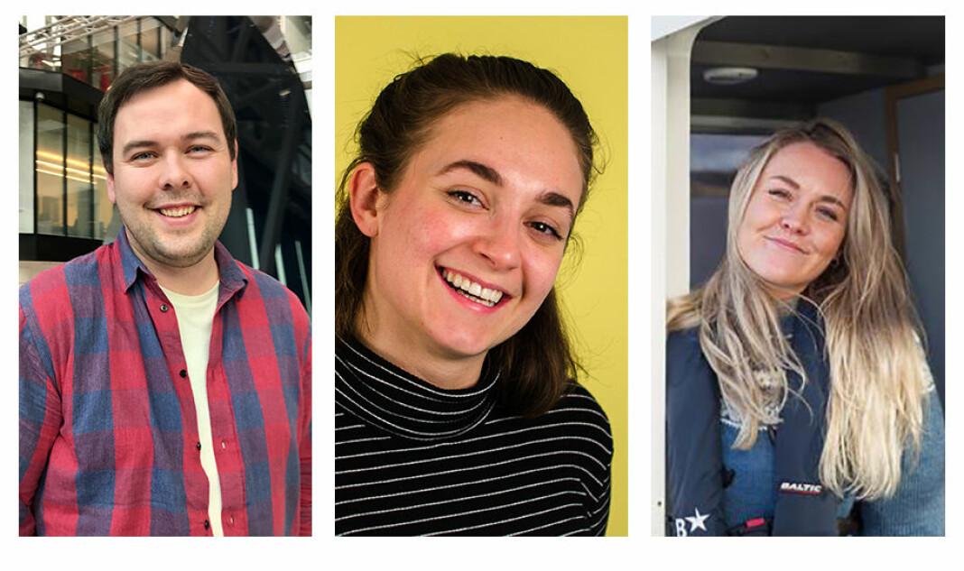 Svein Erik Giskegjerde, Hannah Amanda Hansen og Malene Indrebø-Langlo får jobb i TV 2s nye «Lab2». Foto: Privat