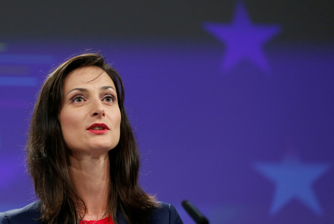 EUs digitaliseringskommissær Mariya Gabriel er positiv til enigheten som nå er på plass om det såkalte copyrightdirektivet. Foto: Reuters / NTB scanpix