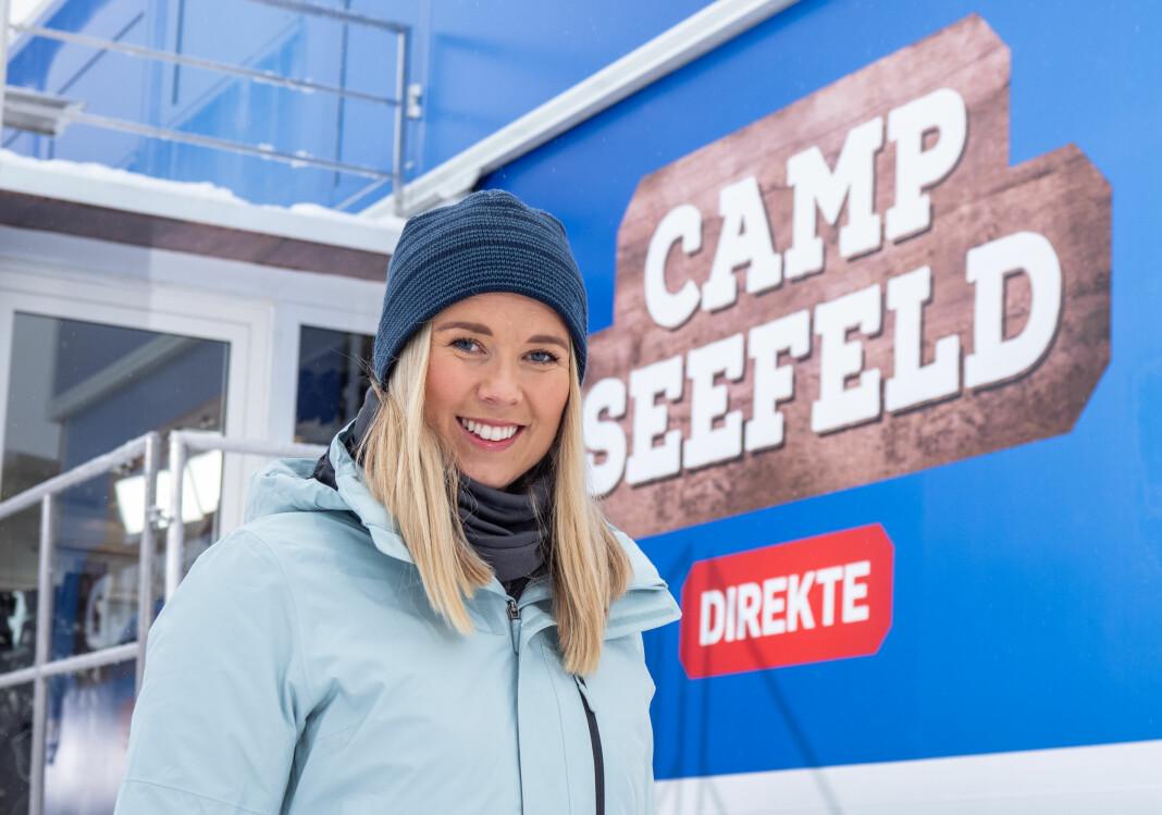 Ida Moseng dekker ski-VM for TV 2. Foto: Jan-Petter Dahl/TV 2